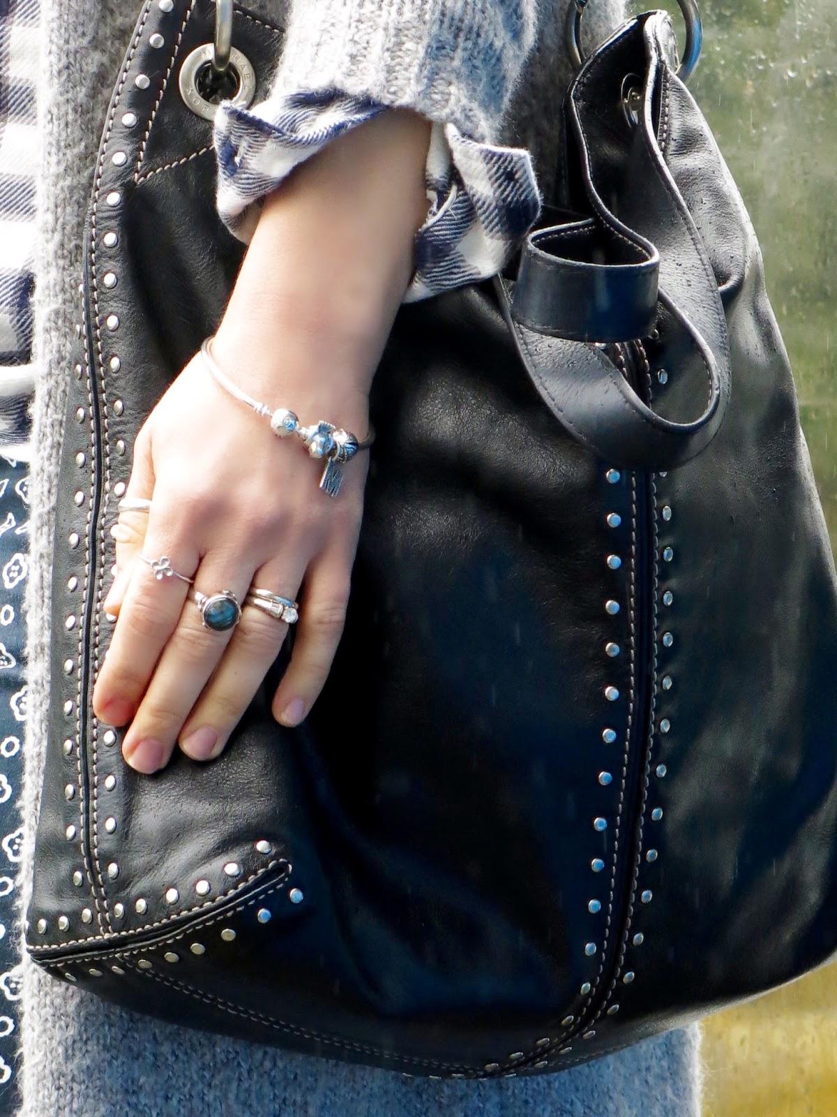 Michael Kors bag, Pandora bracelet