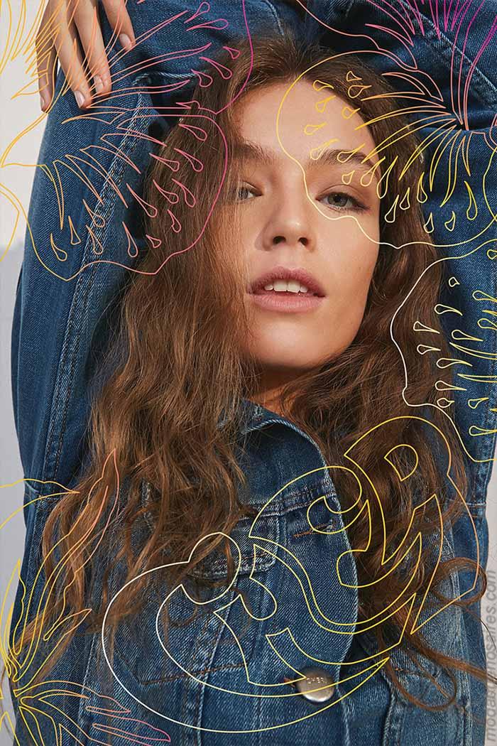 Moda mujer primavera verano 2020 moda denim. Camperas de jeans primavera verano 2020.