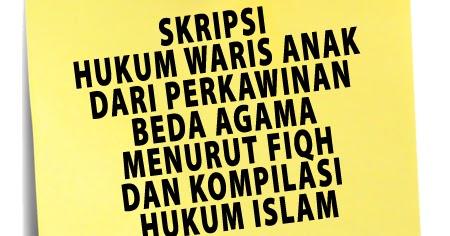 Contoh Judul Skripsi Hukum Islam - Rasmi J
