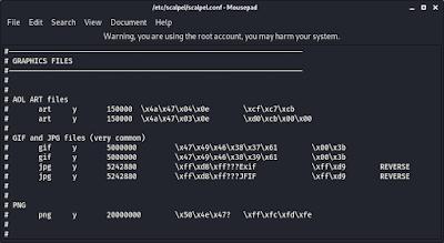 files in scalpel configuration file
