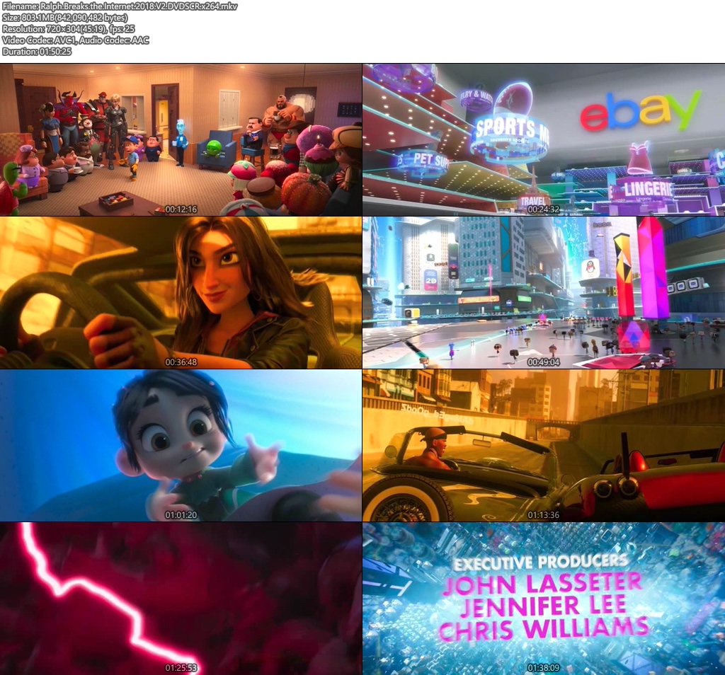 Ralph Breaks the Internet 2018 DVDSCR x264 | 480p 300MB | 100MB HEVC Screenshot