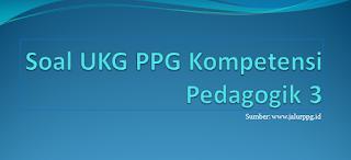 Kali ini saya akan bagikan soal latihan UKG Kompetensi Pedagogik dan jawabannya PPG 2020/2021 :  Soal UKG PPG Kompetensi Pedagogik 3