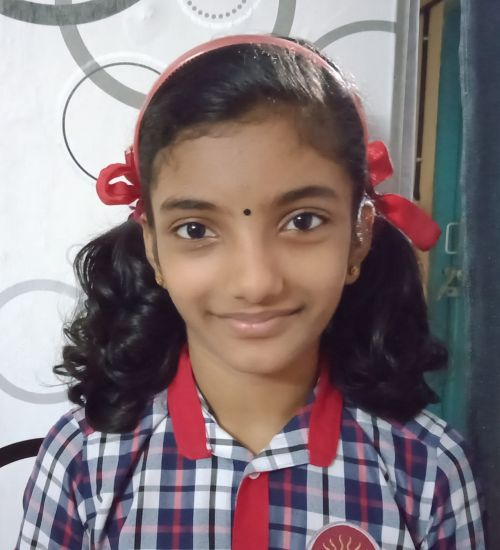 AICF National Schools Under-13 Girls Category Champion - Pournami S, Class VII