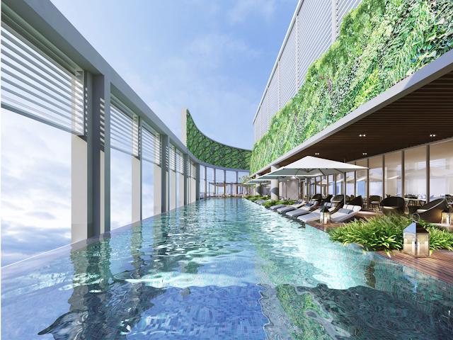 Bể bơi trên không Luxury Apartment