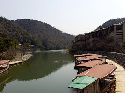 The peaceful Uji River in Kyoto