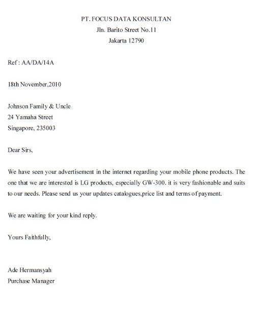 Purchase Inquiry Letter 90 cv01billybullockus – Purchase Inquiry Letter