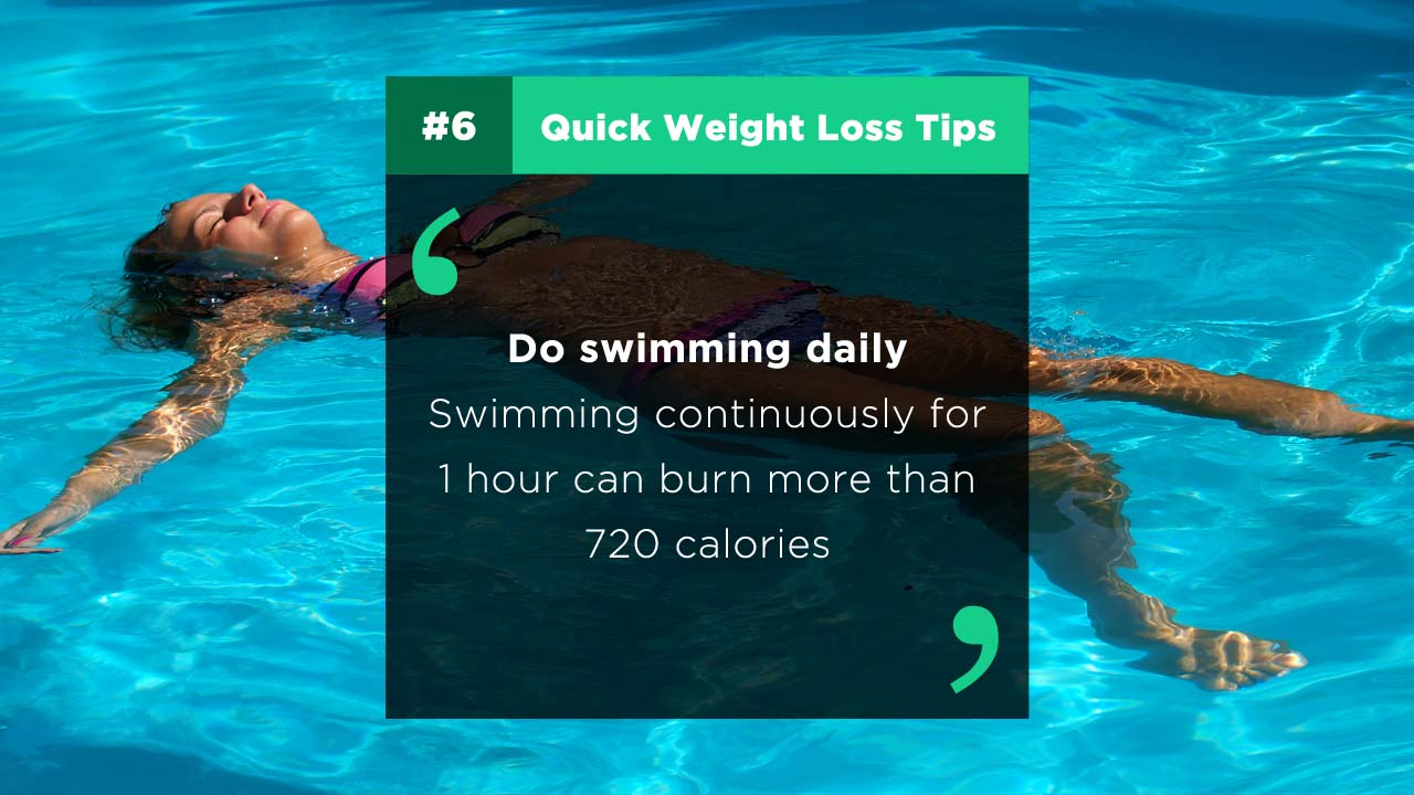 Tips & Home remedies to reduce weight fast - Swimming - Tipsmonk