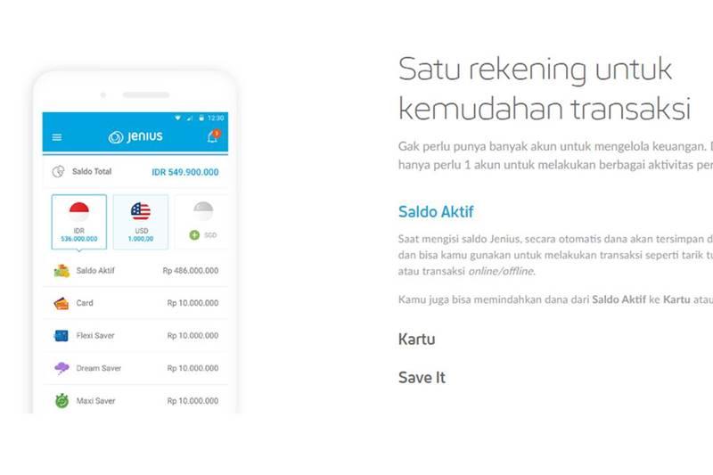 Aplikasi Mobile Banking Jenius