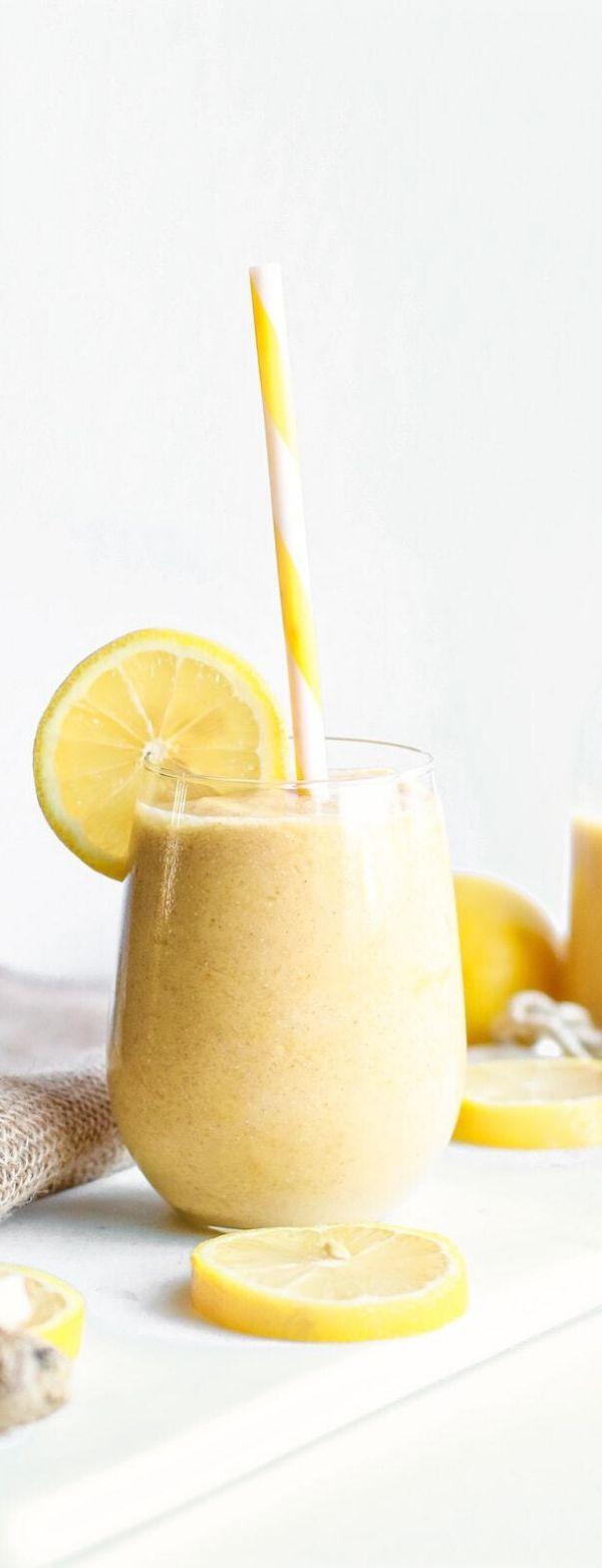 Fresh Lemon Ginger Detoxifying Smoothie