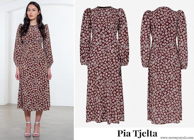 Mette Marit wore Pia Tjelta Rouge Fleur Long Dress