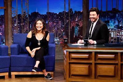 Márcia e Danilo durante entrevista (Crédito: Eve Schwarz/SBT)