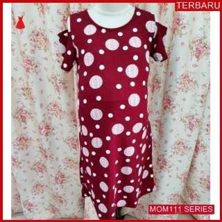 MOM111D21 Dress Hamil Menyusui Modis Polkadot Dresshamil Ibu Hamil