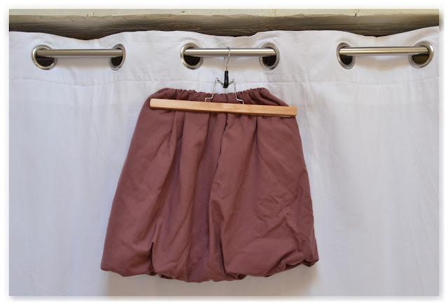 jupe boule violette d'après le patron la boulette de coupé couzu