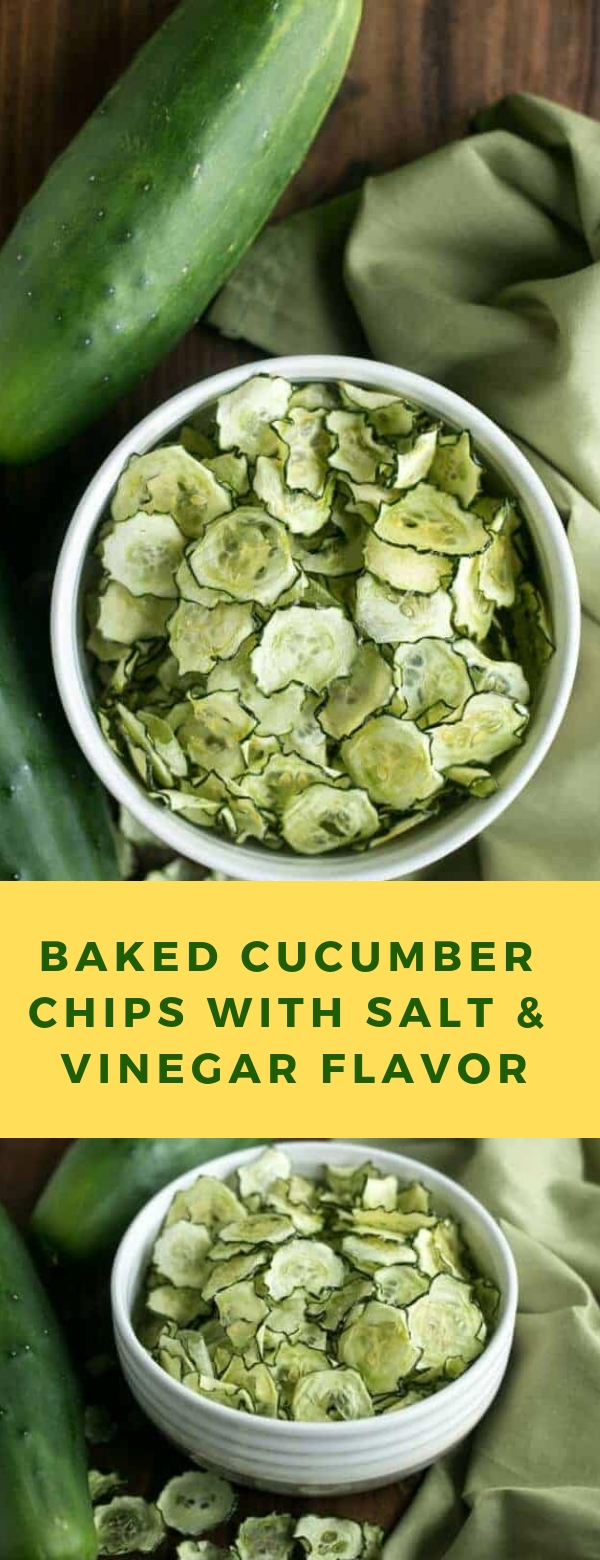 BAKED CUCUMBER CHIPS WITH SALT & VINEGAR FLAVOR #KETORECIPES