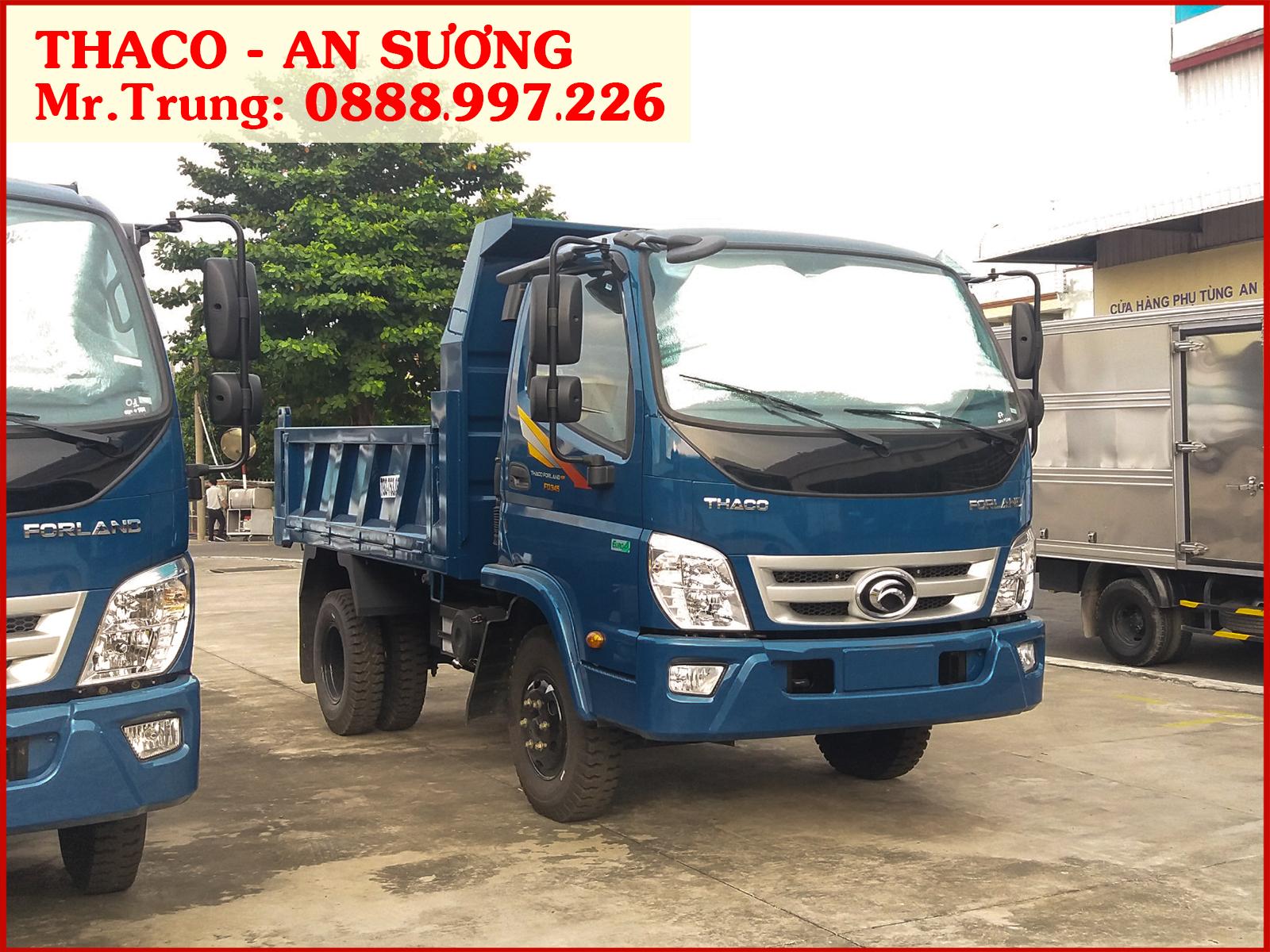 Xe ben Forland Thaco FD345.E4 tải 3,5 tấn / thùng 2,9 khối | Giá xe FD345