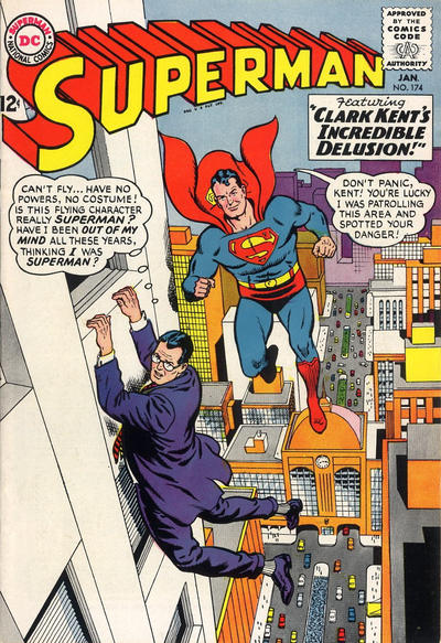 Episode #378 Part I: Superman Comic Book Cover Dated January 1965: Superman #174!