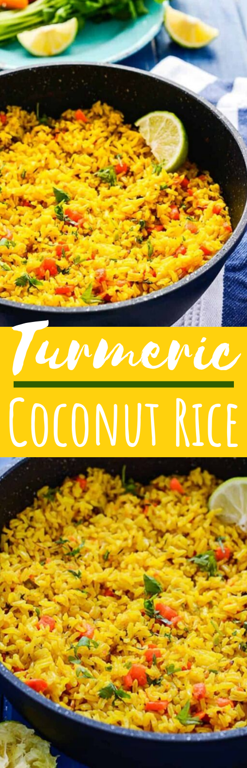 Turmeric Coconut Rice #vegan #dinner