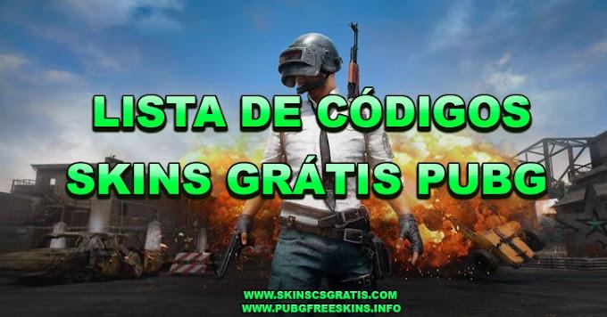 LISTA DE CÓDIGOS PARA SKINS DE PUBG GRÁTIS