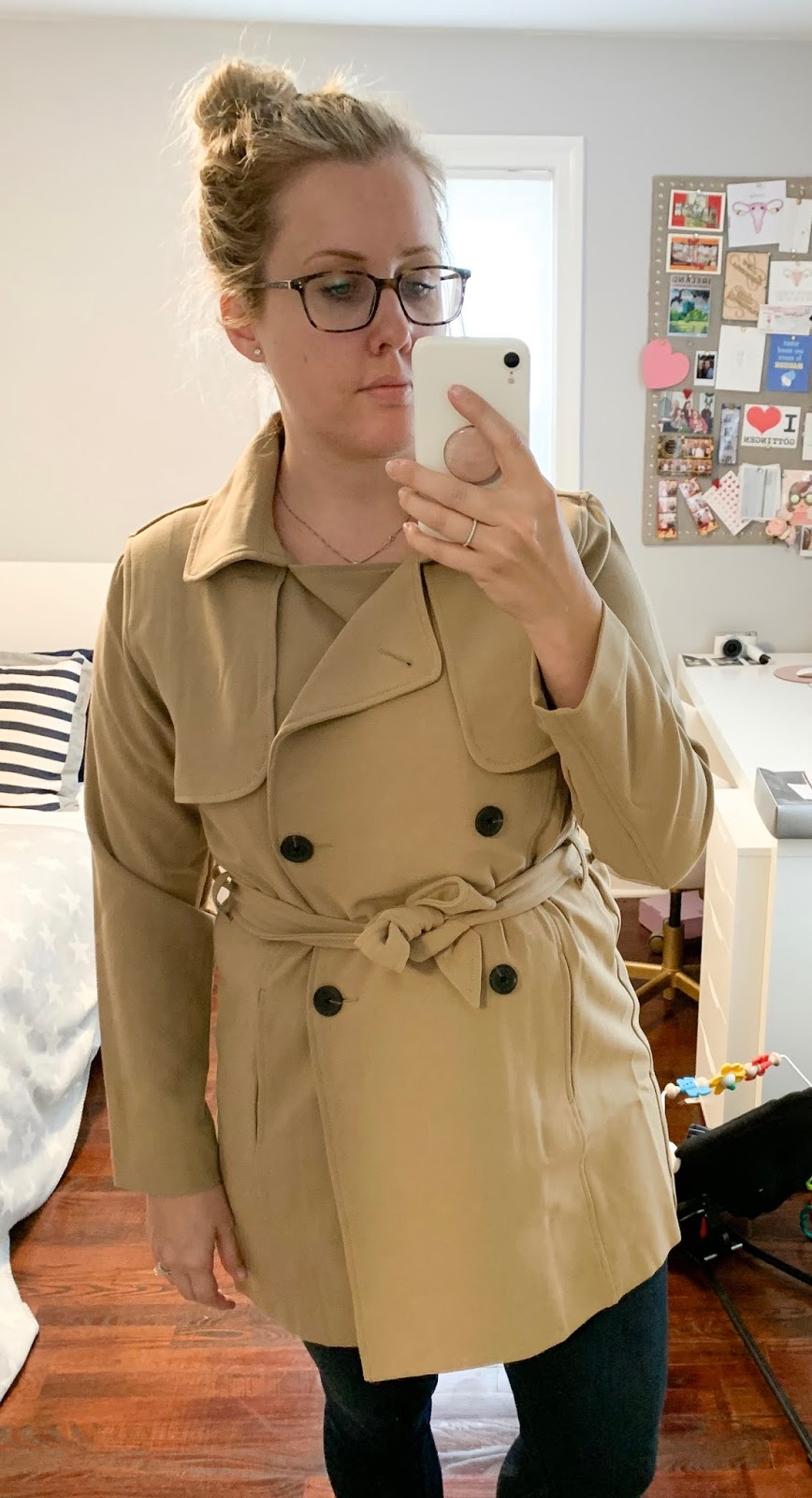 Drapey Trench Coat