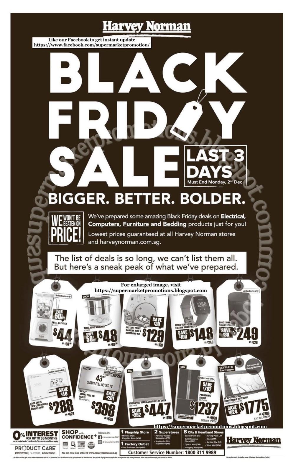 Harvey Norman Black Friday Sale 30 November - 02 December