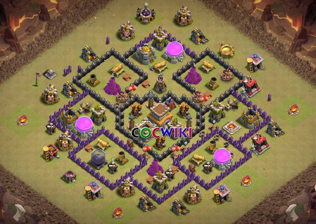level 9 town hall war base design