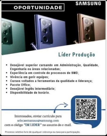 LÍDER PRODUÇÃO - SAMSUNG