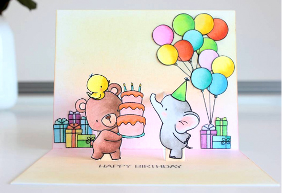 Birdie Brown Beary Special Birthday, Adorable Elephants, and Somebunny stamp sets and Die-namics, and Pop-Up Elements Narrow Die-namics - Amanda Korotkova #mftstamps