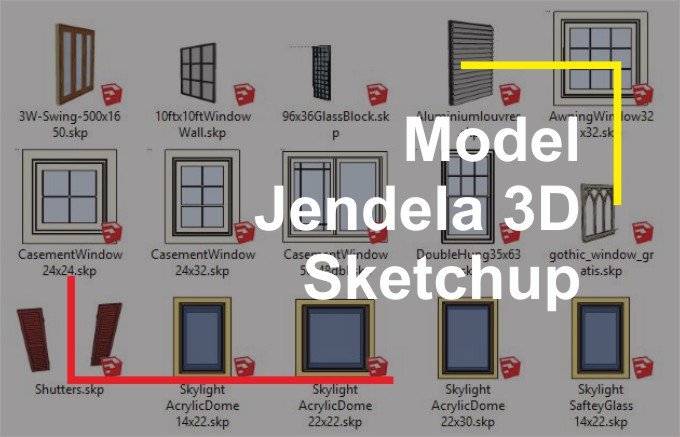 Download Jendela 3D File Sketchup