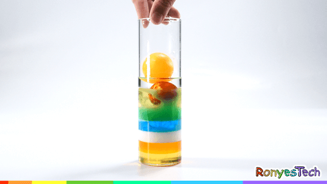 Density Rainbow Column Experiment