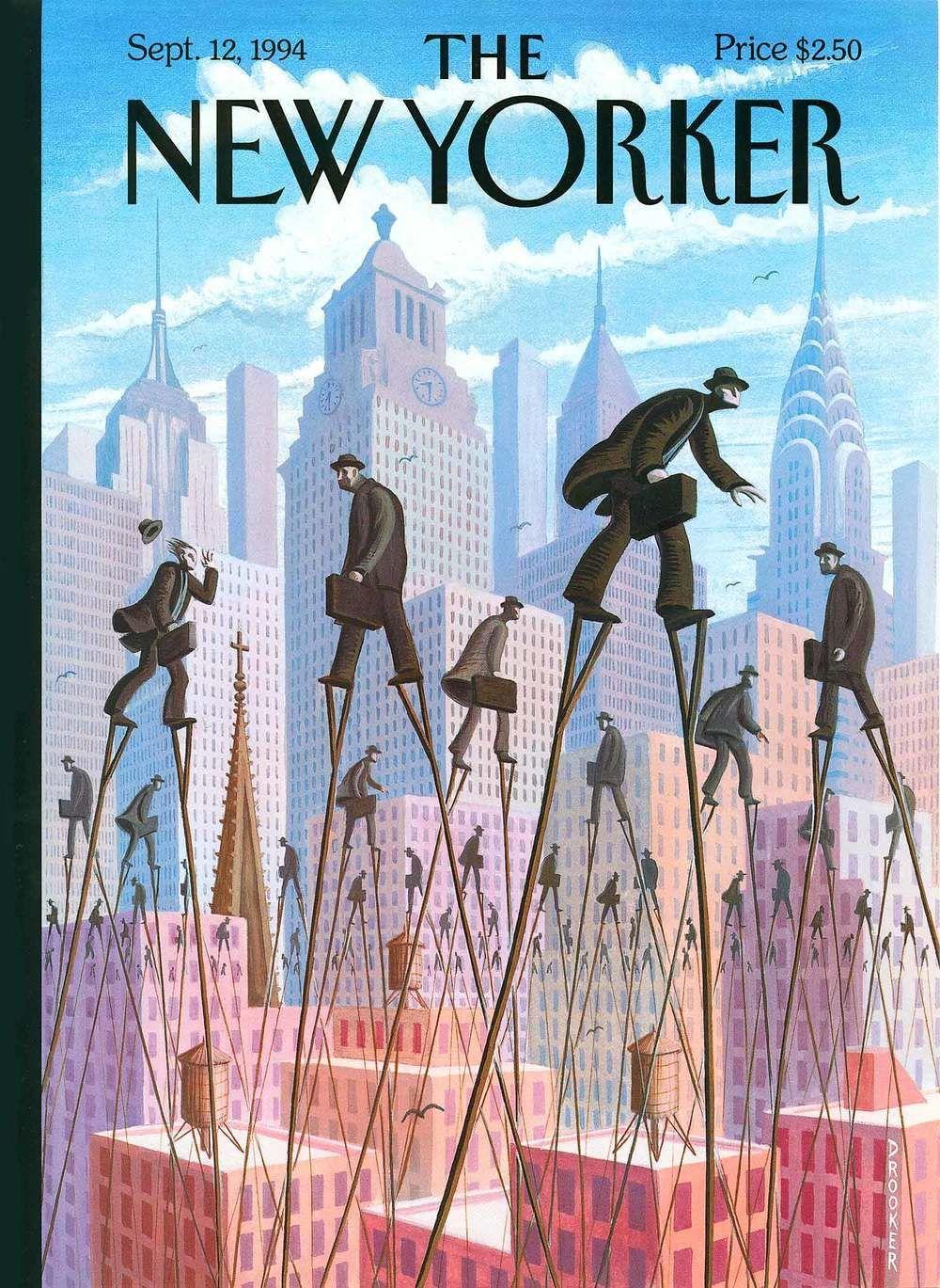 an Eric Drooker illustration for The new Yorker Magazine September 12 1994