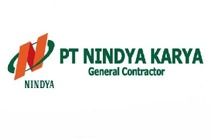 Lowongan Kerja Penerimaan Calon Karyawan BUMN PT NINDYA KARYA (Persero) Juni 2019