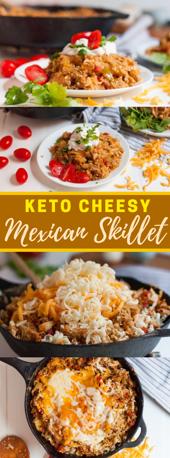 KETO CHEESY MEXICAN SKILLET CHICKEN #healthy #ketodiet
