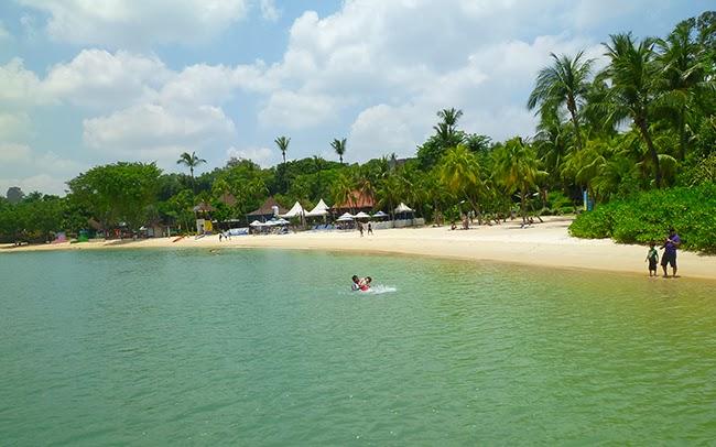 Playa de la isla de Sentosa