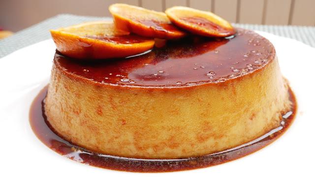 FLAN de NARANJA, 🍮🍰tarta, pastel frío 🍰🍮(tipo QUESILLO)