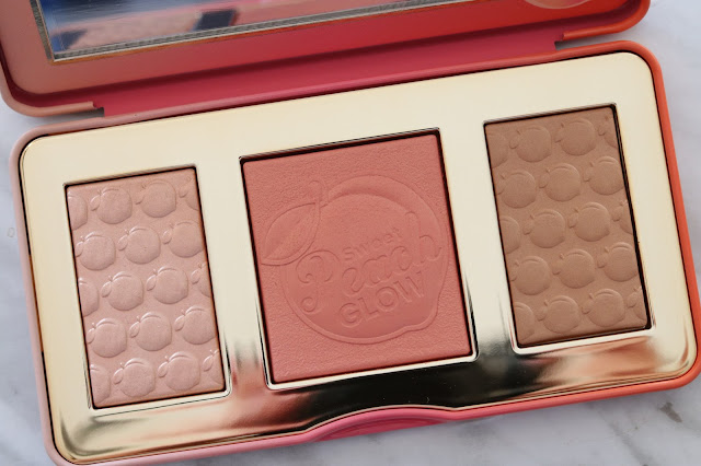 too faced sweet peach palette collection highlight palette