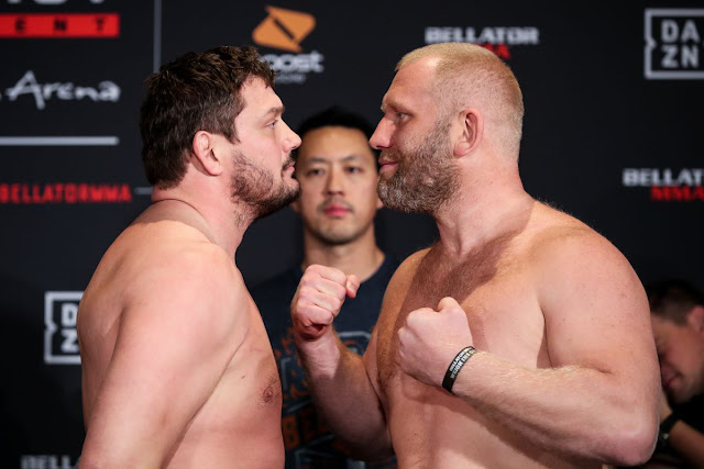 Matt Mitrione and Sergei Kharitonov Faceoff