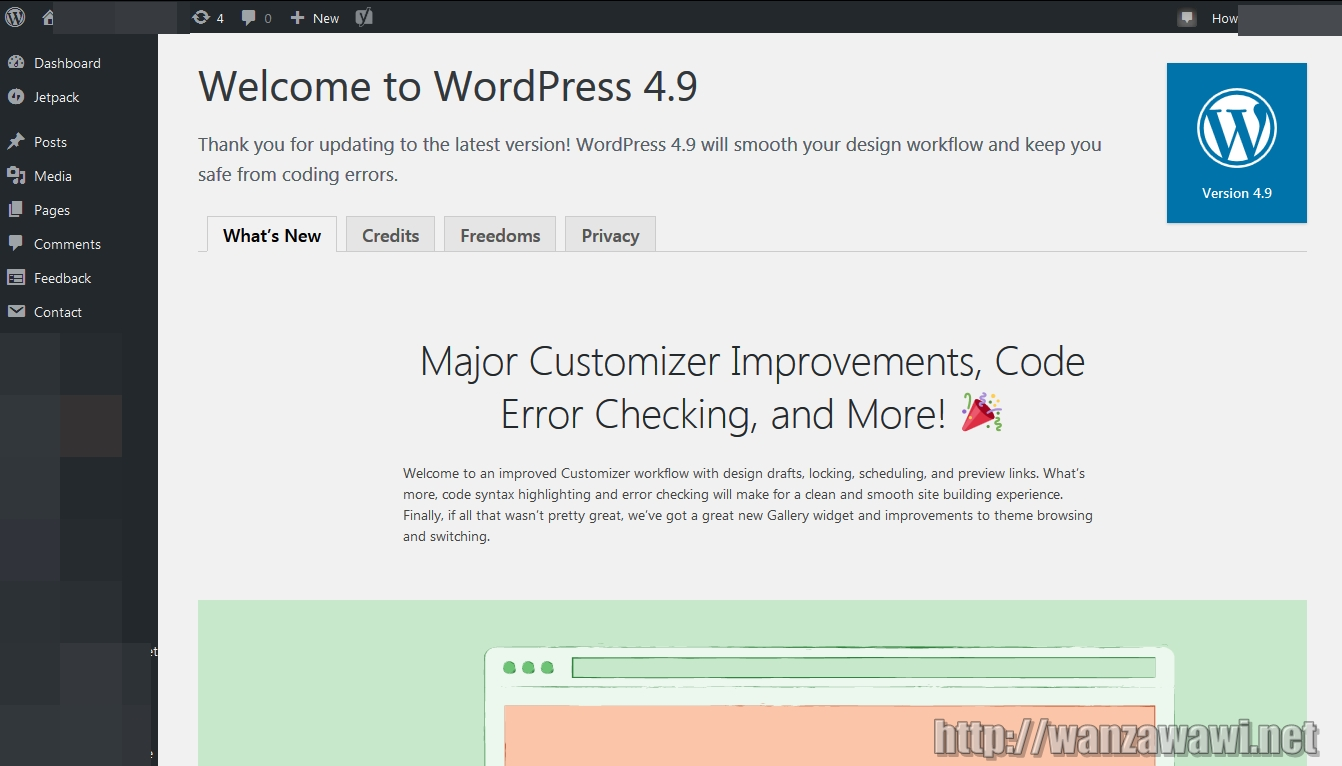 Wordpress 4.9 Tinto
