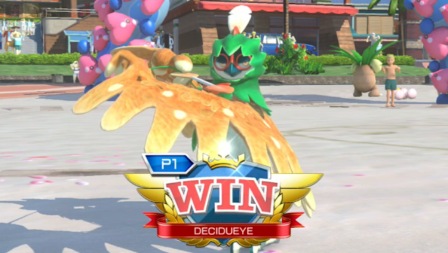 Pokkén Tournament DX Decidueye victory win pose