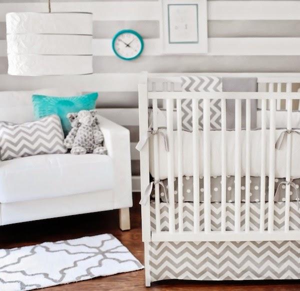 Dormitorios de beb en turquesa y gris dormitorios for Decoracion habitacion bebe turquesa y gris