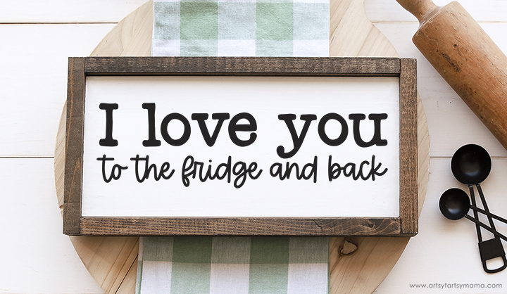 Free I Love You to the Fridge and Back SVG Cut File
