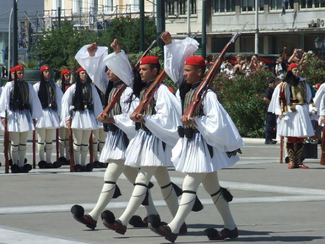 Roupas masculinas tradicionais na Grécia