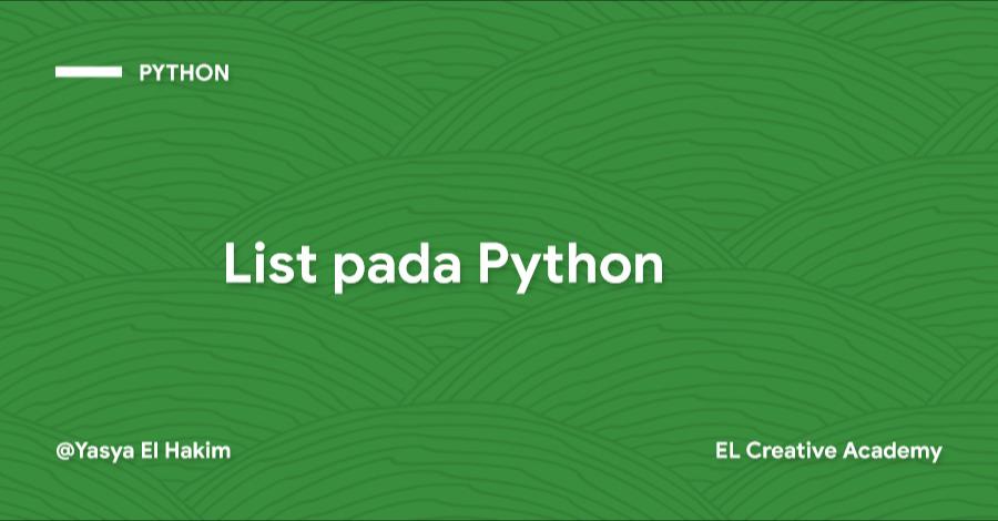List pada Python