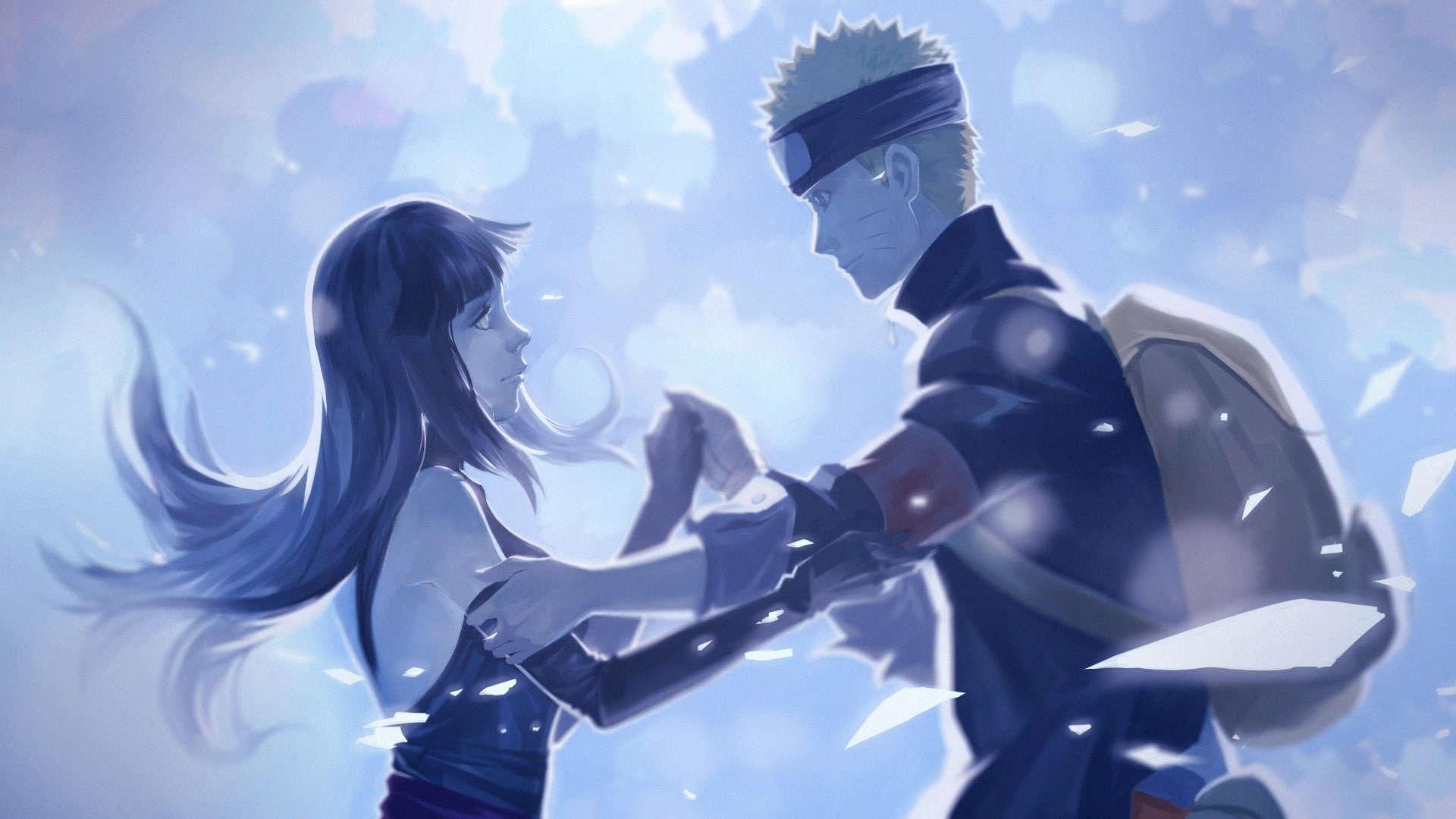 Foto anime naruto dan hinata desktop romantis