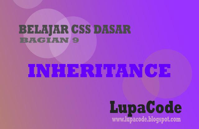 Cara Menggunakan Inheritance Pewarisan Pada CSS