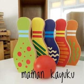 Bowling Kayu Set Mainan Anak