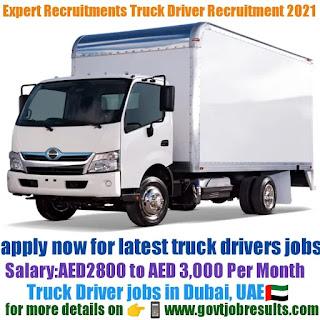 Expert Recruitments Truck Driver Recruitment 2021-22
