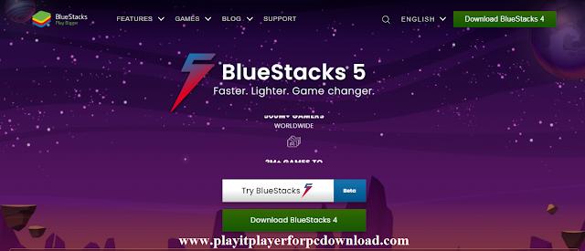 Bluestacks emulator software from its official website