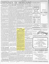 l' ECO DI BERGAMO 31 OTTOBRE 1922
