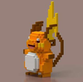 Voxel Pokémon Raichu