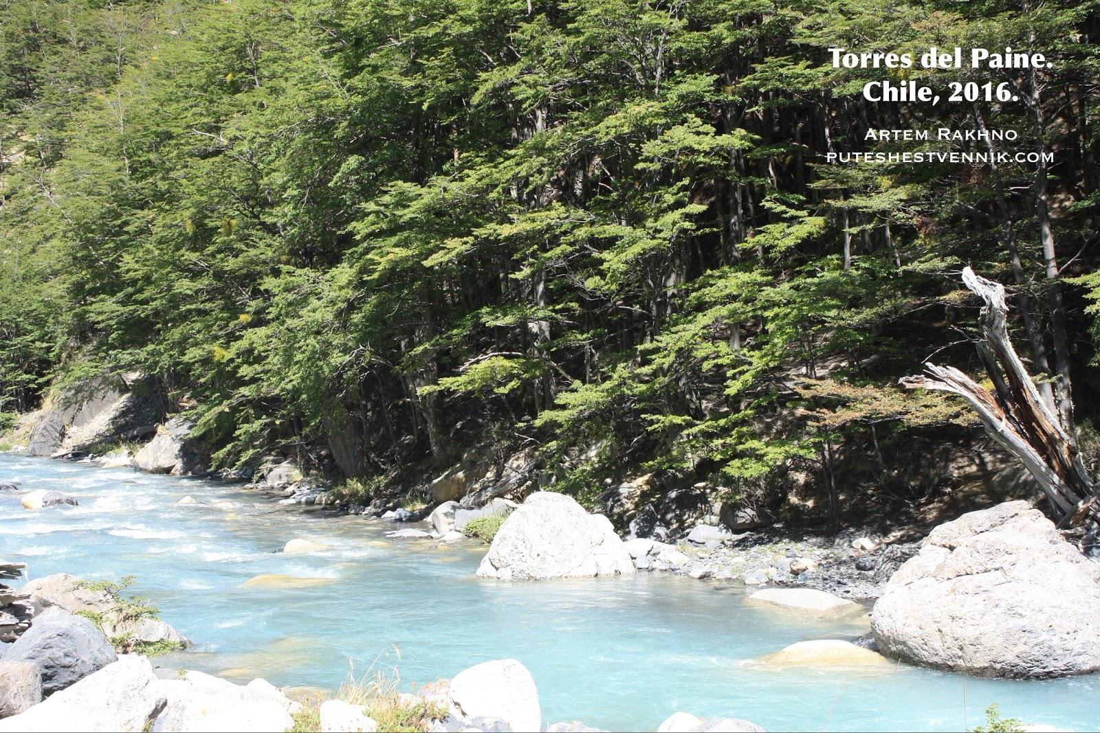 Река в Торрес-дель-Пайне
